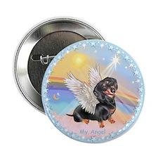 """Clouds/Dachshund Angel 2.25"""" Button"""