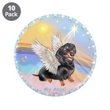 "Clouds/Dachshund Angel 3.5"" Button (10 pack)"