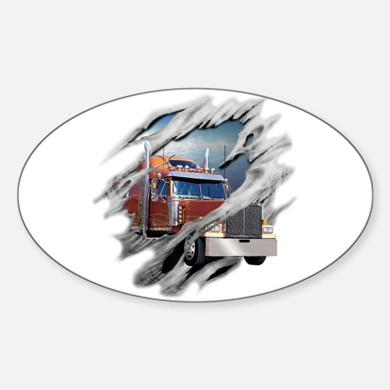 Torn Trucker Oval Decal