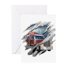 Torn Trucker Greeting Card