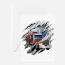 Torn Trucker Greeting Card