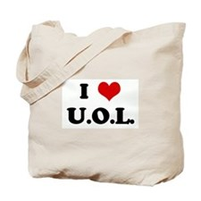 I Love U.O.L. Tote Bag