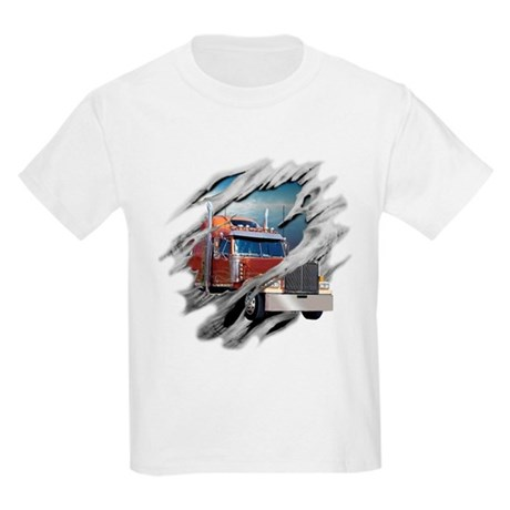 Torn Trucker Kids Light T-Shirt