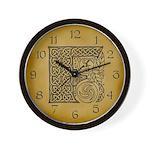 Celtic Letter F Wall Clock