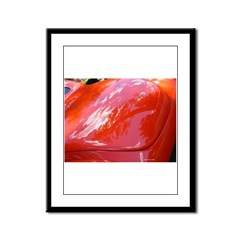 Reflections in Red Framed Panel Print