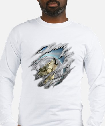 Torn Wolf Long Sleeve T-Shirt