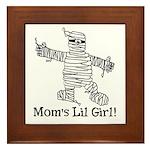 The Mummy's Girl Framed Tile