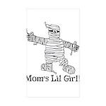 The Mummy's Girl Rectangle Sticker 50 pk)