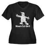 The Mummy's Girl Women's Plus Size V-Neck Dark T-S