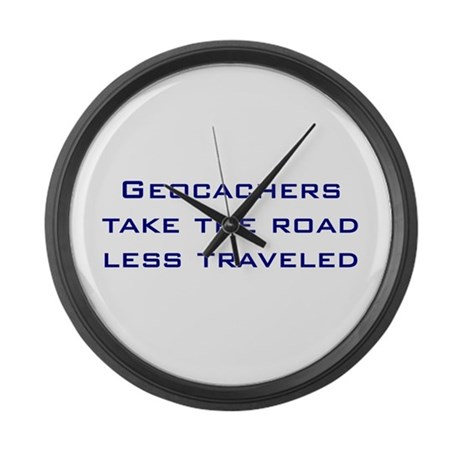 Geocachers Take the Road Large Wall Clock