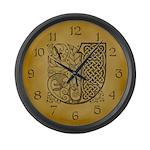 Celtic Letter J Large Wall Clock