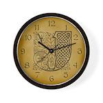 Celtic Letter J Wall Clock