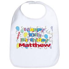 Matthew's 10th Birthday Bib