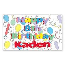 Kaden's 8th Birthday Rectangle Decal