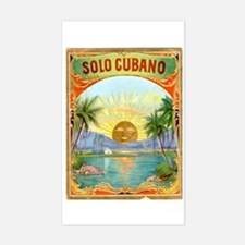 Solo Cubano Cigar Art Rectangle Decal