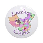 Liuzhou China Map Ornament (Round)
