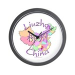 Liuzhou China Map Wall Clock