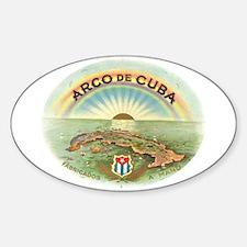 Arco de Cuba Cigar Oval Decal