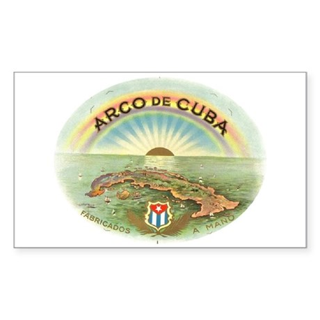 Arco de Cuba Cigar Rectangle Sticker