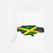 617Apparel Jamaica map Greeting Cards (Pk of 20)