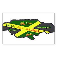 617Apparel Jamaica map Rectangle Bumper Stickers