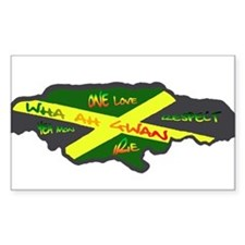 617Apparel Jamaica map Rectangle Decal