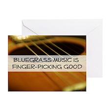 Bluegrass Fingerpicking  Greeting Cards (Package o