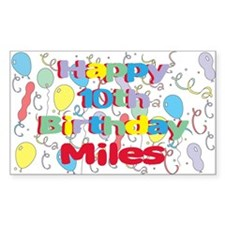 Miles's 10th Birthday Rectangle Decal
