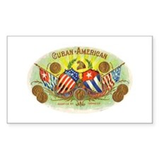 Cuban-American Cigars Rectangle Decal