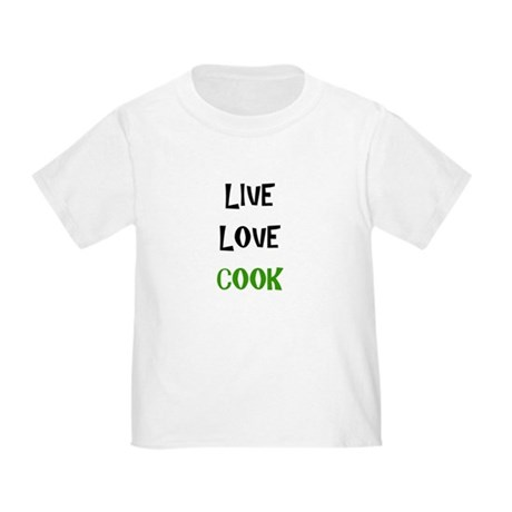 Live, Love, Cook Toddler T-Shirt
