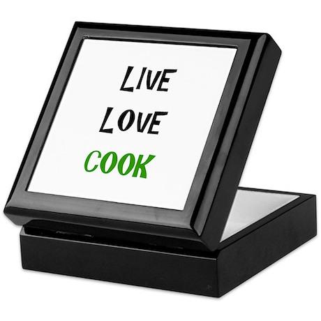 Live, Love, Cook Keepsake Box