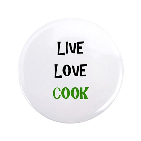 "Live, Love, Cook 3.5"" Button (100 pack)"