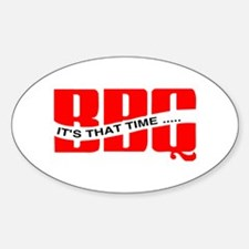 BBQ...It's That Time Oval Decal
