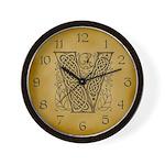 Celtic Letter V Wall Clock