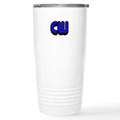 CW (Morse Code) Stainless Steel Travel Mug