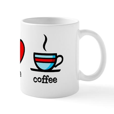 Peace, Love and Coffee - Mug