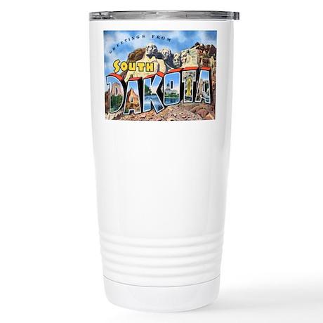 South Dakota Greetings Stainless Steel Travel Mug