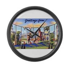 Tennessee Greetings Large Wall Clock