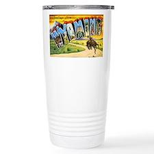 Wyoming Greetings Travel Mug