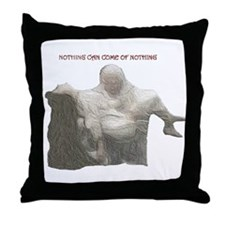 """king lear """"nothing..."""" Throw Pillow"""