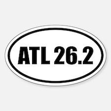 26.2 Atlanta ATL Marathon Oval Oval Decal