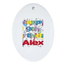 Alex's 9th Birthday Oval Ornament