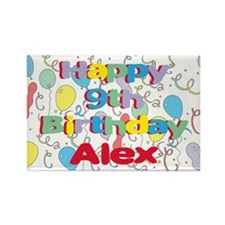 Alex's 9th Birthday Rectangle Magnet