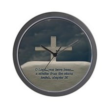 Cross in the Storm Wall Clock