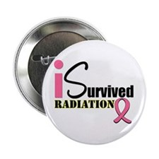 """I Survived Radiation 2.25"""" Button"""
