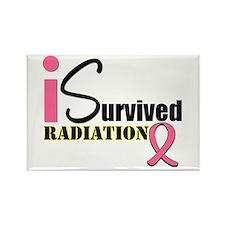 I Survived Radiation Rectangle Magnet