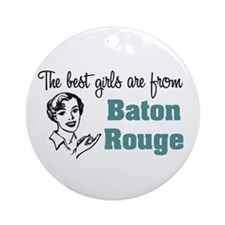 Best Girls Baton Rouge Keepsake (Round)