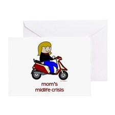 Mom's New Scooter Greeting Card