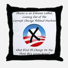 """Corrupt Change"" Throw Pillow"