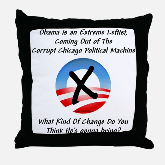 """Corrupt Change"" Throw Pillow"
